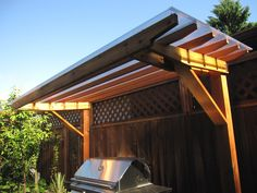 Roof bbq shelter