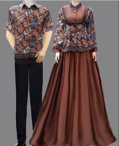 Home Decorating Style 2016 for Model Gamis Batik Long Dress Couple, you can see Model Gamis Batik Long Dress Couple and more pictures for Home Interior Designing 2016 13108 at Ragam Muslim. Modern Hijab Fashion, Batik Fashion, Islamic Fashion, Abaya Fashion, Muslim Fashion, Fashion Dresses, Batik Long Dress, Batik Muslim, Mode Batik