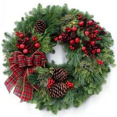 ARE FRESH CHRISTMAS WREATHS FOR YOU?Potential customers who have never actually seen one of our fresh holiday wreaths might find it helpful to know that the entire process of creating, decorating and shipping each fresh Christmas wreath is. Decorations Christmas, Christmas Door Wreaths, Holiday Wreaths, Holiday Crafts, Christmas Ornaments, Christmas Snowman, Christmas Swags, Burlap Christmas, Pine Cone Christmas Tree