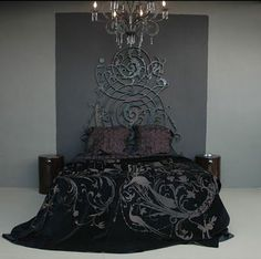 Gothic bedroom decor bedding is part of bedroom Decoration Bed - Gothic bedroom decor bedding Gothic Furniture, Bedroom Furniture, Furniture Decor, Steampunk Furniture, Industrial Furniture, Gothic Home Decor, Diy Home Decor, Home Bedroom, Bedroom Decor