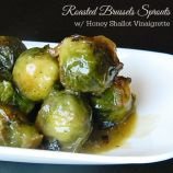 Roasted Brussels Sprouts with Honey Shallot Vinaigrette Recipe