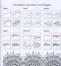 Zentangle Patterns | Zentangle Tutorials / Zen Mandalas