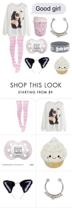 """If u don't support DDLG unfollow me"" by xxkrysxx ❤ liked on Polyvore featuring claire's, Theory, ddlg and littlespace"