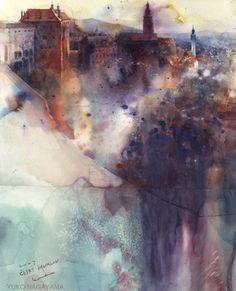 Cesky Krumlov by Yuko Nagayama