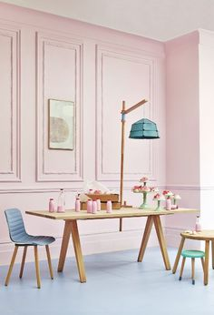 Dining room | Wood & pastel | Panelled walls | Milkshake | Tea party | Celebrations | Modern | Livingetc