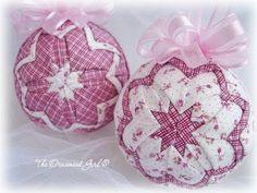 quilted ornaments - these are adorable