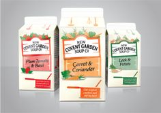 Packaging of the World: Creative Package Design Archive and Gallery: New Covent Garden Soup Co. Redesigned