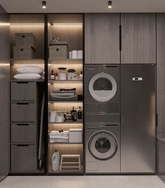 Laundry Room Tile, Modern Laundry Rooms, Laundry Room Layouts, Laundry Room Organization, Laundry Room Design, Home Room Design, Home Design Decor, Dream Home Design, Home Interior Design