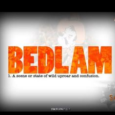 "The definition of ""Bedlam"""