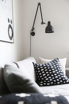 'Minimal Interior Design Inspiration' is a weekly showcase of some of the most perfectly minimal interior design examples that we've found around the web - all Interior Design Examples, Interior Design Inspiration, Home Decor Inspiration, Floor Design, House Design, Black Wall Lights, Black And White Interior, Black White, Lights