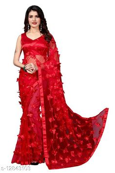 Sarees ButterFly Saree For Woman Saree Fabric: Net Blouse: Running Blouse Blouse Fabric: Art Silk Pattern: Self-Design Blouse Pattern: Solid Multipack: Single Sizes:  Free Size (Saree Length Size: 5.5 m, Blouse Length Size: 0.8 m)  Country of Origin: India Sizes Available: Free Size   Catalog Rating: ★4 (486)  Catalog Name: Adrika Alluring Sarees CatalogID_2493885 C74-SC1004 Code: 884-12843103-8121