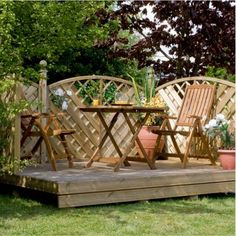 Just need sunny days to enjoy lovely decking and sunshine! Millbrook Decking Pack 1.2 x 1.2m
