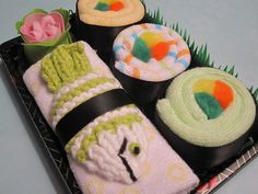 Baby Sushi Gift Set  Baby Shower Gift  Green Fish by sisterina; Oh my goodness, how cute is this!