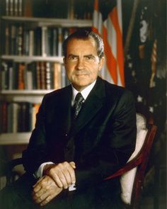 The Nixon shock was a series of economic measures undertaken by United States President Richard Nixon in 1971 in response to increasing inflation. Presidents Wives, American Presidents, Us History, American History, Nixon Shock, Barack Obama, Official Presidential Portraits, Presidential History, Trump