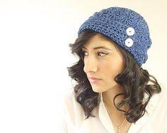 Downton Abbey Crochet Hat Pattern | Downton Abbey Inspired FLAPPER HAT Crochet Cloche ...