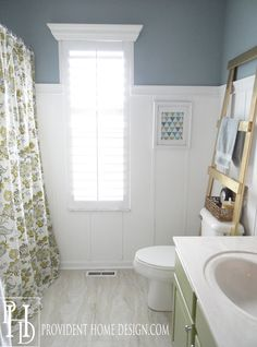 Benjamin Moore Buxton Blue bathroom paint color