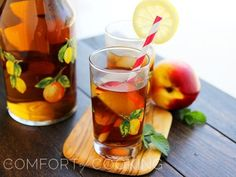 Tipsy Lemonade and Peach Iced Tea. Click image for recipe.