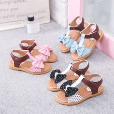 Girls Bowknot Wave Point Decor Hook Loop Sweet Beach Sandals is cheap, come to NewChic and buy the best kids shoes now! Kids Sandals, Sandals For Sale, Shoes Sandals, Beach Sandals, Girls Dress Shoes, Girls Shoes, Victoria Shoes, Toddler Girl Shoes, Princess Shoes