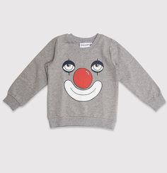 Organic clown sweatshirt by Mini Rodini / CozyKidz.net