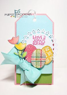Cute Easter tag at Paper Smooches!