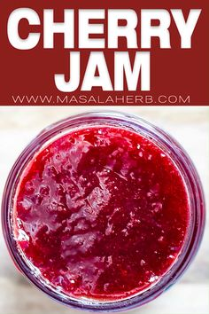 The best Cherry Jam Recipe without artificial pectin sugar, all natural and totaly no fail! I show you how to make cherry jam with my quick process video. Cherry Jelly Recipes, Fruit Recipes, Cherry Curd Recipe, Cherry Recipes Vegan, Recipes With Cherries, Cherry Jam Recipe Without Pectin, Sweet Cherry Recipes, Jalapeno Recipes, Sweets