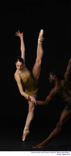 Before the Ballet, Drew Jacoby and Prince Credell, Alonzo King's Lines Ballet. Photo by Marty Sohl.