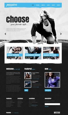 Passion Dance Website Templates by Elza