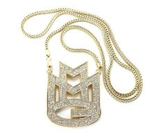 ICED OUT MMG MAYBACH MUSIC PENDANT FRANCO CHAIN RICK ROSS MEEK MILL HIP HOP G #Pendant