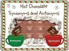 Synonym and antonym practice will be much sweeter with this hot chocolate theme activity! $3.00