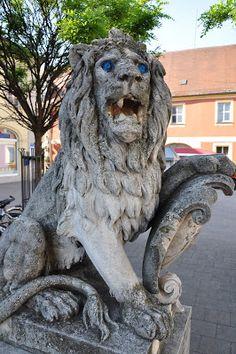 The Lion Statue in Erlangen, Germany