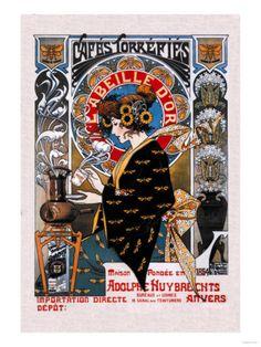 Art Nouveau Poster: Cafes Torrefies
