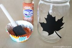 mason jar fall luminary 2