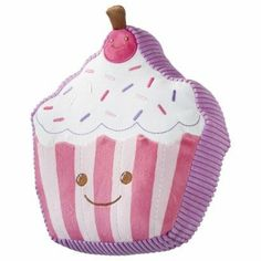 """Circo Kid's Cupcake Pillow - Pink/Purple by Circo. $25.95. This pillow features a cute and cuddly Cupcake with a smiling face on one side and solid purple on the other!. Dimensions: 9.0 """" L x 10.0 """" W - Just the right size to snuggle up with!. Perfect size for your daughter to take with her anywhere she goes! Awesome for car rides and vacations!. Textile Material: Polyester (100 %) Fill Material: Polyester (100 %). Circo Kid's Cupcake Pillow - Pink/Purple. This pill..."""