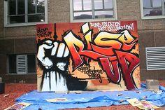 Graffiti art by Aerosol Arabic aka Mohammed Ali.