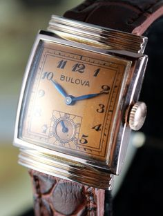 Bulova Watches - Bing Images How I wish these wind up watches would come back on the market. Elegant Watches, Stylish Watches, Beautiful Watches, Luxury Watches, Cool Watches, Watches For Men, Casual Watches, Wrist Watches, Art Deco Watch