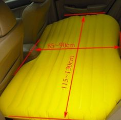 This is neat! Makes the back seat of your car into a bed!