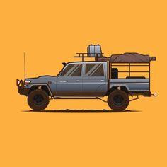Landcruiser designed by Fajar Nugroho . the global community for designers and creative professionals. Toyota Hilux, Toyota Lc, Cool Trucks, Pickup Trucks, Cool Cars, Landcruiser 79 Series, Terrain Vehicle, Expedition Vehicle, Sweet Cars