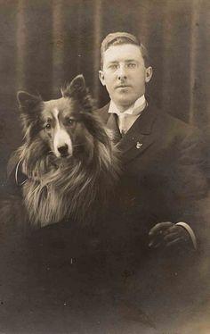 Man And His Collie (Credit: Libby Hall Dog Photos).