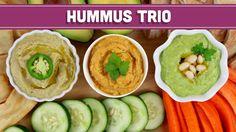 Homemade Healthy Hummus - 3 Ways!! Mind Over Munch