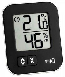 TFA Dostmann digitales Thermo-Hygrometer Moxx, schwarz, x x Lach Smiley, Memory Storage, Digital Alarm Clock, Home Depot, Wall Mount, Ebay, Black, Hygrometer, Colors
