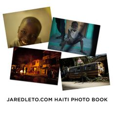 An exclusive book of photos taken by Jared Leto during his trip to Haiti around the first anniversary of the devastating earthquake that hit the country on January 12, 2010. 100% of net profits will go to charities to assist those affected by the quake. #JaredLeto #JLMerch