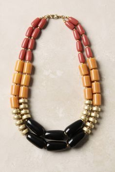 Lusting after this Heat Series Necklace by Anthropologie. Diy Jewelry Necklace, Necklace Designs, Jewelry Crafts, Beaded Jewelry, Handmade Jewelry, Beaded Necklace, Jewellery, Jewelry Accessories, Jewelry Design
