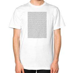 Bee Movie Script Unisex T-Shirt (on man)