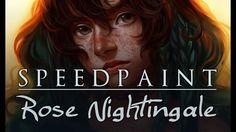 "[speedpaint] paint too sai - ""Rose 'Birdie' Nightingale"" (original chara..."