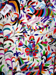 Embroidered art from the Otomi people of Mexico