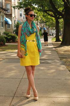 La Mariposa: Yellow and turquoise