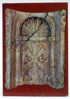 Postal Mérida Hornacina de altar Visigodo S VI Ed Pergamino años 60 sin circular