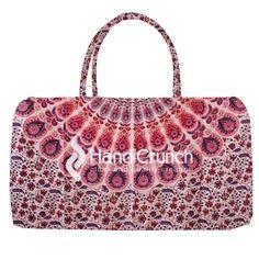Stunning light pink mandala travel bag Online Bags, Travel Bag, Handicraft, Gym Bag, Mandala, Handbags, Pink, Stuff To Buy, Craft