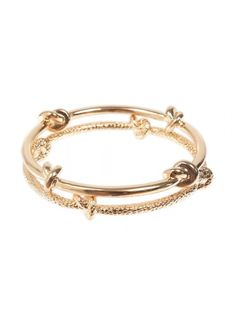 Knot Your Average Bangle Duo Gold