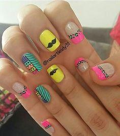 Cute Nail Art, Cute Nails, Mani Pedi, Nail Manicure, Cool Nail Designs, Summer Nails, Opi, Make Up, Triangles